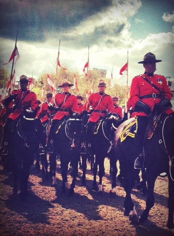 RCMP Musical Ride at the Windsor Castle Horse show (by Mrs Regal Eyes