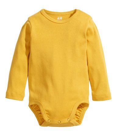 Yellow body suit | H&M GB