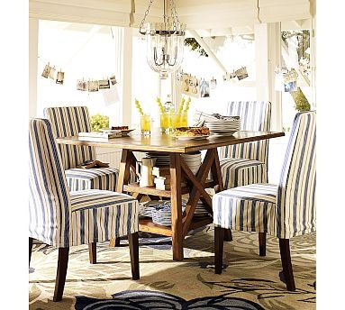 From Pottery Barn Love This Half Skirt Slip Look Napa Chair Slipcovers