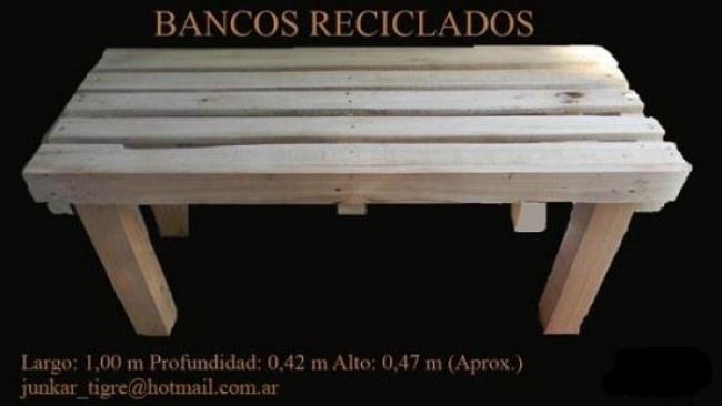 banco  de pallets reciclados