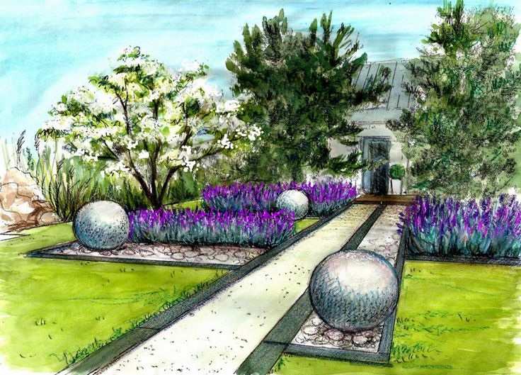 Gardening Design Ideas find this pin and more on garden design ideas small rear garden Aranacja Zieleni 3d Drawingscontemporary Gardensgarden Design Ideasurban Sketchinglandscaping