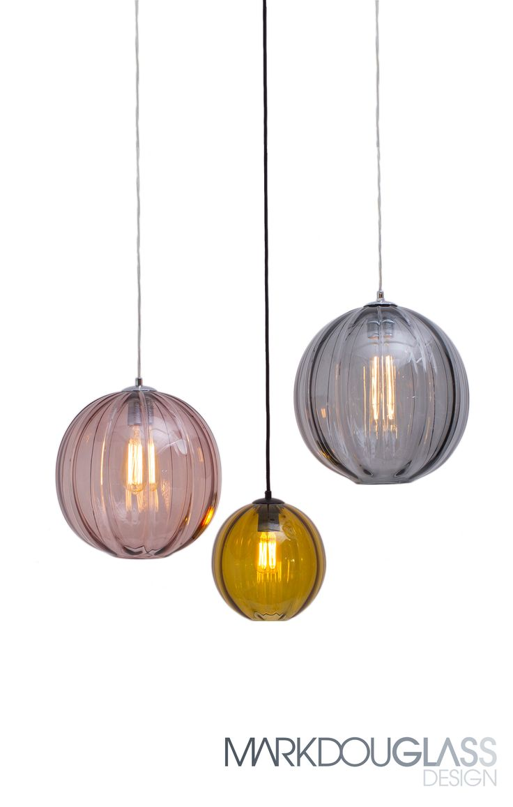 Modernist is a hand blown glass with a pronounced exterior ribbing and flat opening. Available in 2 styles (round and oval), 3 sizes and 12 colours. A cluster looks great to any space as well as just an individual feature lighting.