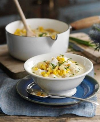Adding just a drizzle of cream makes this fish chowder velvety yet still kilojoule controlled