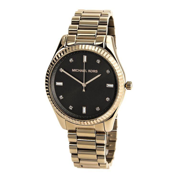 Michael Kors MK3227 Women's Felicity Brown Dial Mid-Size Rose Gold Steel Watch