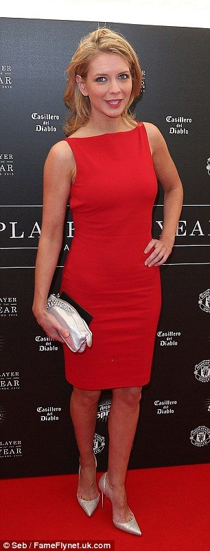 Lady in red: Coundown host Rachel Riley turned up to support her favourite team...