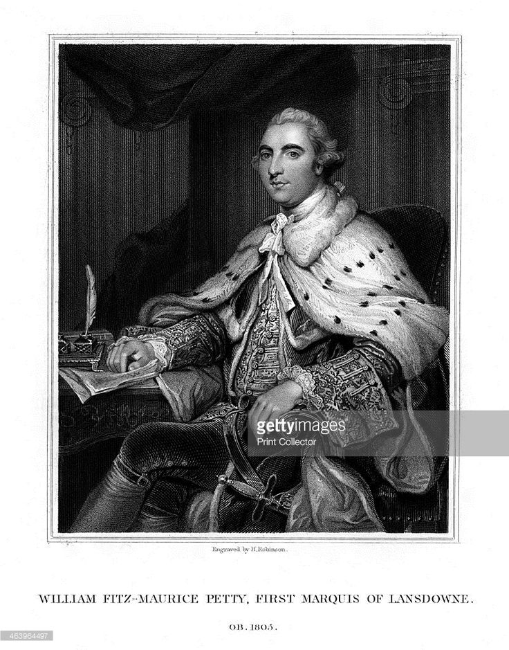 William Petty, 1st Marquess of Lansdowne, British Whig statesman, (1832). Portrait of Petty (1737-1805) in ermine robes.