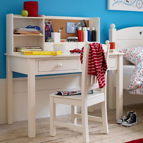 The Noah Desk From Feather Black Is A Fashionable Ivory Painted Number Made Poplar