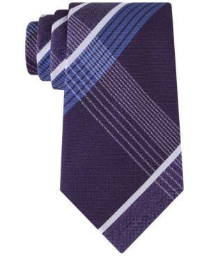 Kenneth Cole Reaction Men's Monte Bianco Plaid Tie  -