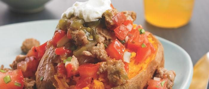 South-of-the-Border Loaded Sweet Potato | The Biggest Loser