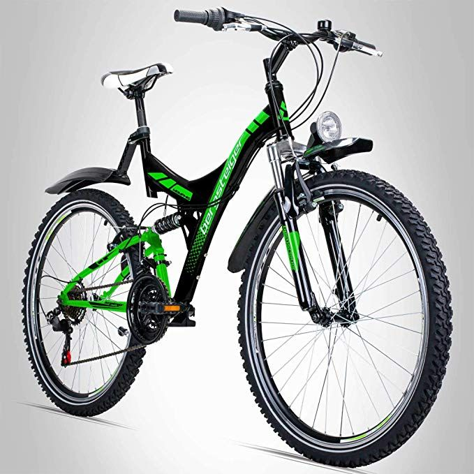 Bergsteiger Memphis 26 Zoll Mountainbike Geeignet Ab 150 Cm Dynamo Licht Stvzo Shimano 21 Gang Schaltung Vollfederung Herren Fahrrad Fahrrad Mountainbike
