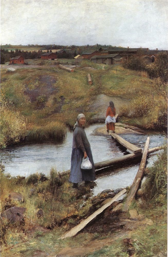 PEKKA HALONEN The Short Cut (1892)