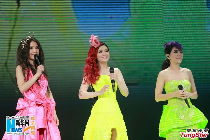 "Pop group S.H.E performs their ""2Gether 4ever"" World Tour 2013 in Hong Kong, China, October 12, 2013"
