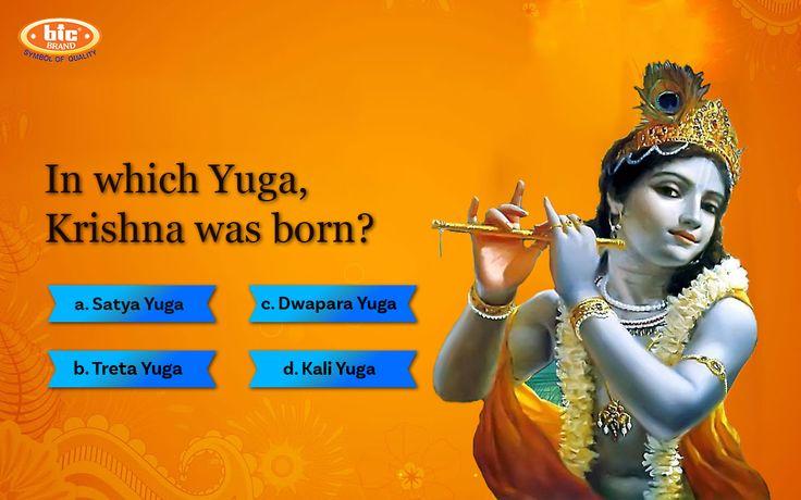 In which Yuga, #Krishna was born? a) Satya Yuga  b) Treta Yuga c) Dwapara Yuga d) Kali Yuga  #Incense #BICIncense