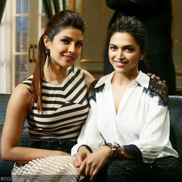 Priyanka Chopra And Deepika Padukone Together On The Sets Of Koffee With Karan Koffee With Karan Deepika Padukone Bollywood Actress