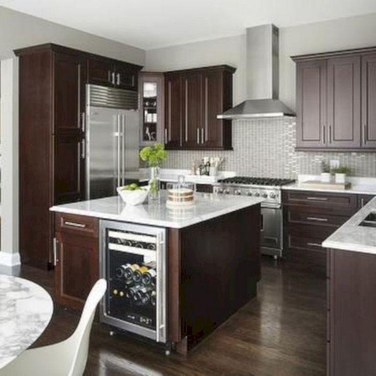 41 Comfy White Kitchen Dark Floors Ideas   Page 41 of 43 ...