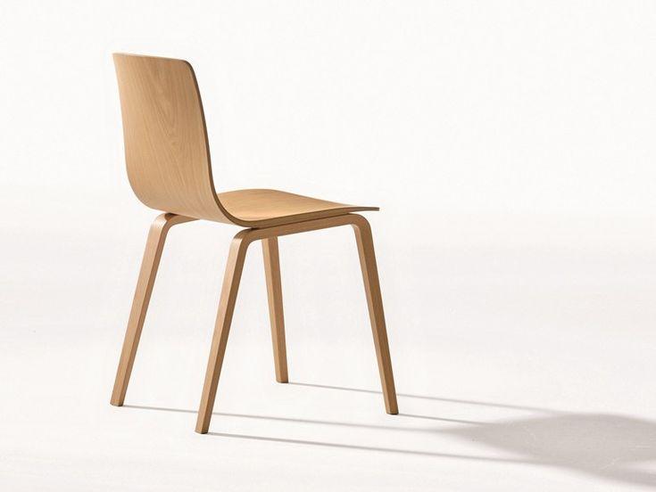 Sedia Impilabile In Legno   Collezione Aava By Arper | Design Antti  Kotilainen