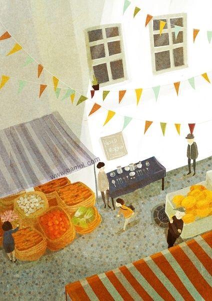 Artworks in 2012 by Oamul Lu, via Behance