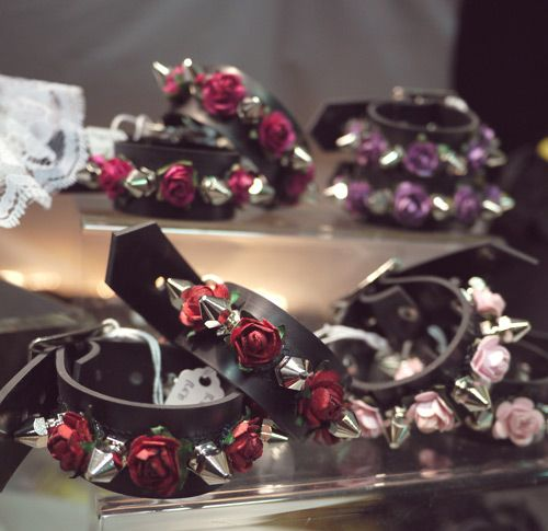 Roses & Spikes Goth Lolita Cuffs #lolipunk I feel a DIY project forming! so cute wonderful for the bridesmaids