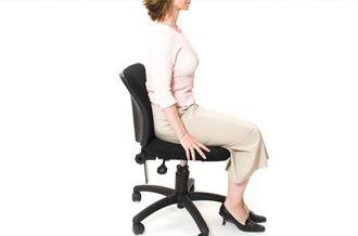 Postura correcta para trabajar frente al computador