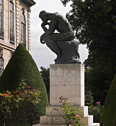 The Thinker - Musée Rodin in Paris (side view).