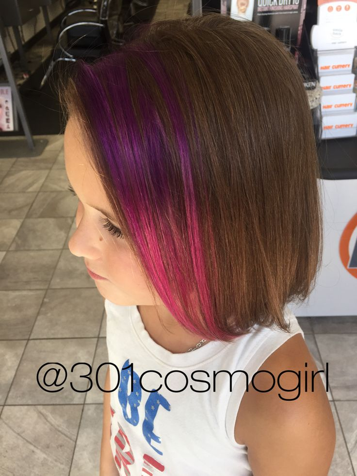 Coloring for Kids colored hairspray for kids : These purple pink pravana ombré peekaboos are perfect for kids hair ...