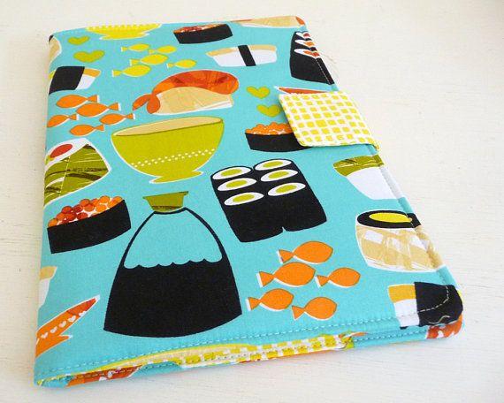 iPad Air 2 Cover iPad Air Case Bright Sushi Print Cotton via RainGirlDesigns