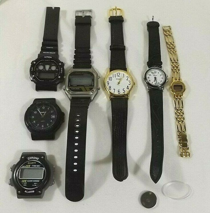 Lot of wristwatches for parts or repair chrono panache