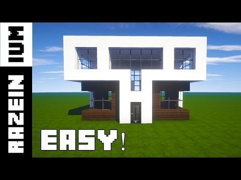 how to build a small modern house on minecraft