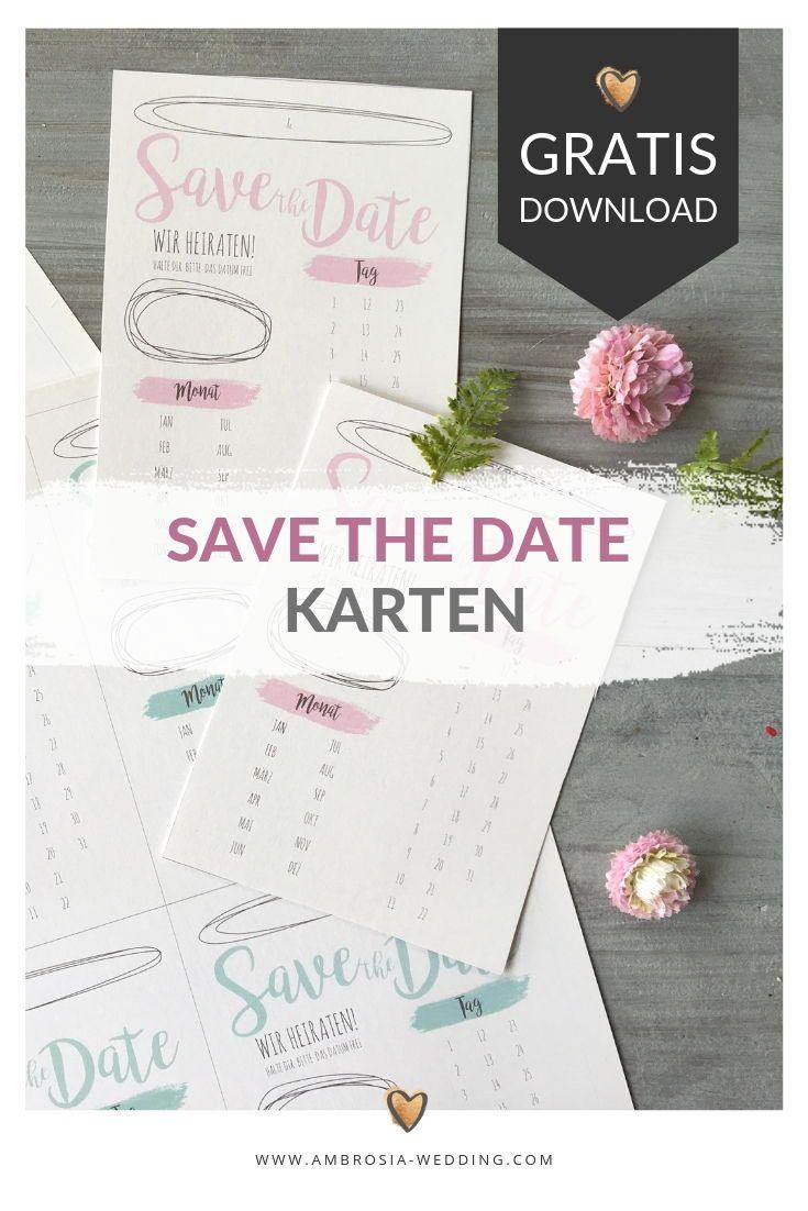 Freebie Schlichte Save The Date Karten Zum Selbst Ausdrucken Save The Date Karten Save The Date Hochzeitseinladung