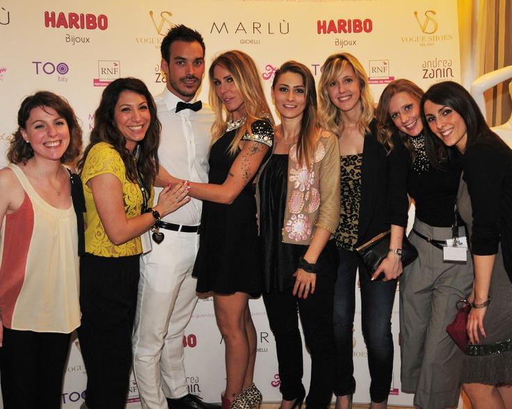 Guendaland, Guendalina Canessa, Luca Marin, Elisa, Manuela, Agnese, Serena, Valeria, Ilaria, evento, Hotel Maison Moschino