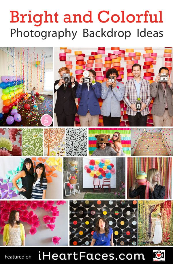 Bright & Colorful DIY Photography Backdrop Ideas featured on iHeartFaces.com. So fun!