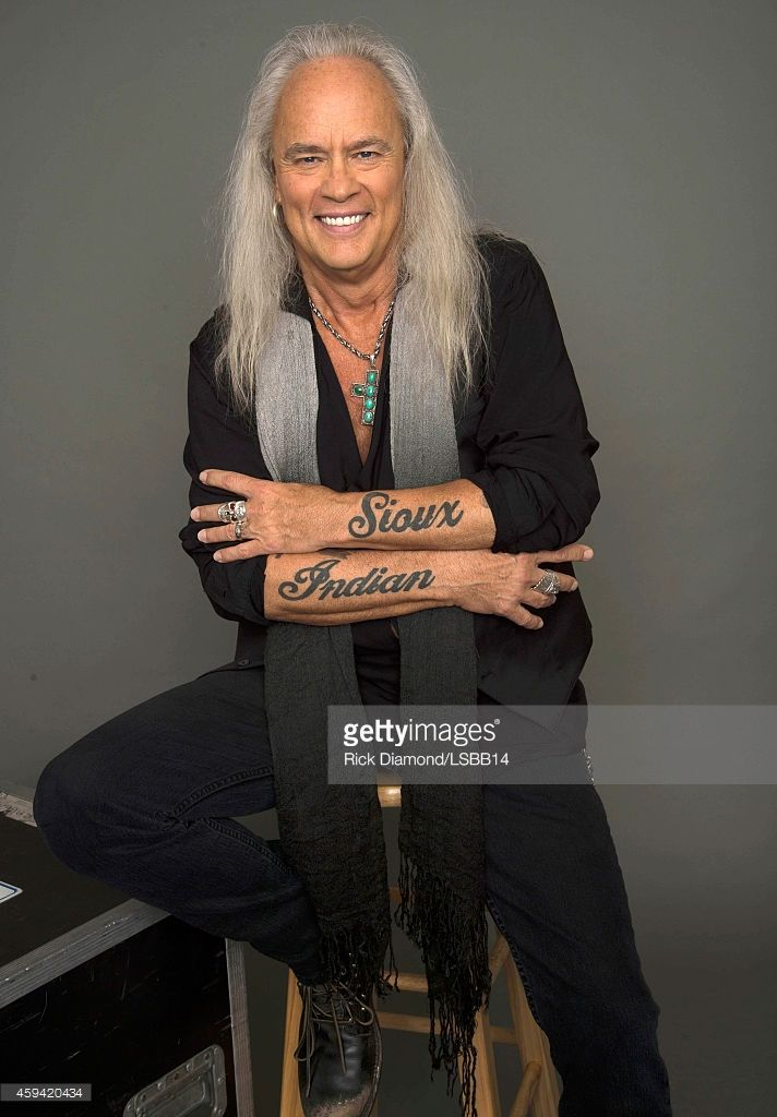 Rickey Medlocke of Lynyrd Skynyrd poses backstage at One More For The Fans! - Celebrating the Songs