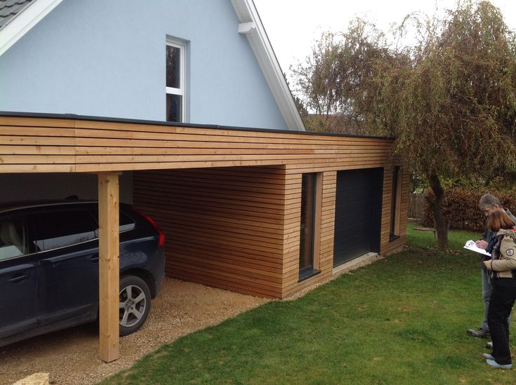 25 best ideas about garage bois on pinterest d coration garage design gar - Carport bois 2 pentes ...