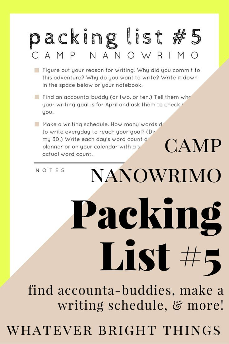 how to win camp nanowrimo