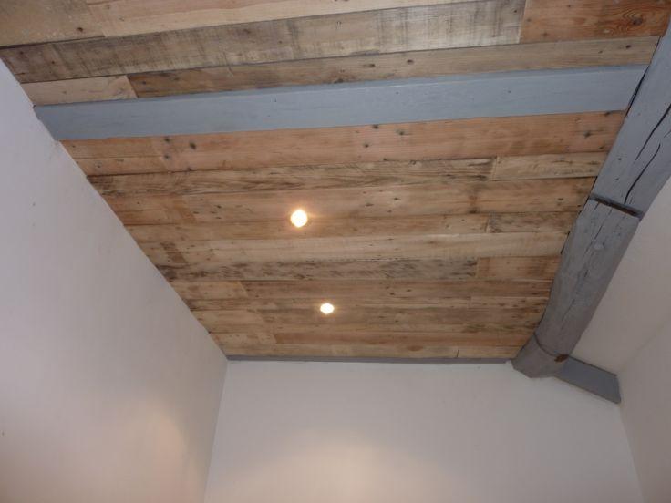 Plafonds, murs, cloisons, enfin tous ce que vous imaginez en bois de palettes