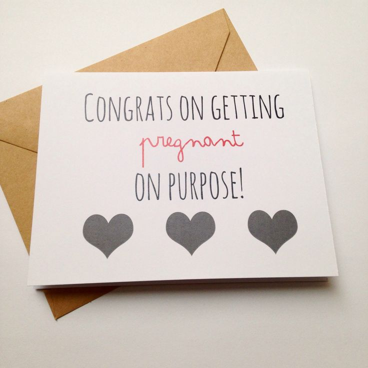 Funny Baby Congratulations Card / Pregnant on Purpose / Pregnancy Congratulations Card / Snarky Baby Card by BEpaperie on Etsy https://www.etsy.com/listing/179245106/funny-baby-congratulations-card-pregnant