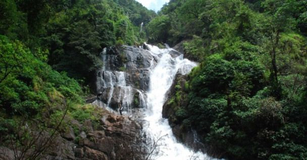 The Kuskem waterfall is located in the Canacona taluka in South Goa. It is situated in idyllic Kuskem village at about 20 km from the Cotigao wildlife sanctuary off NH 17.