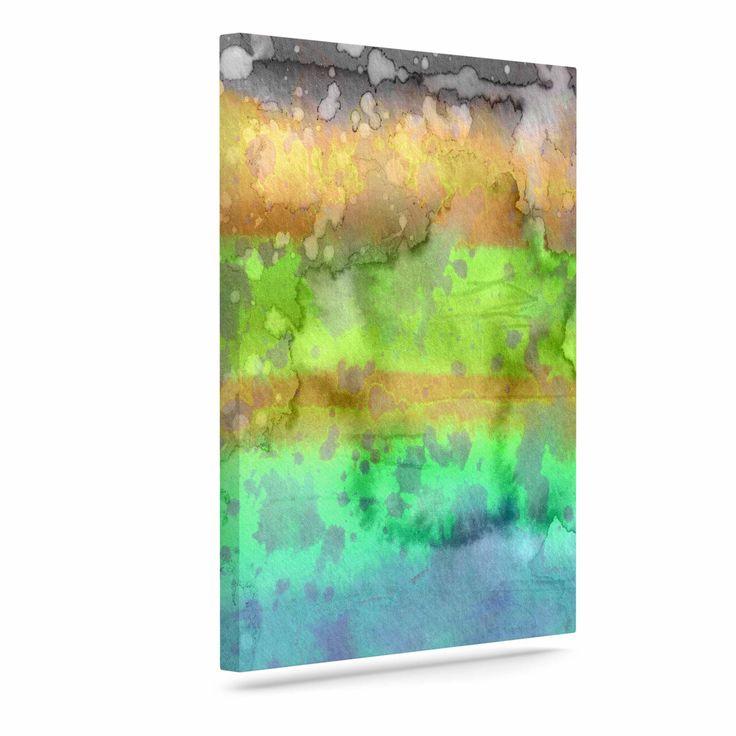"""Ebi Emporium """"California Surf 6"""" Teal Purple Canvas Art"""