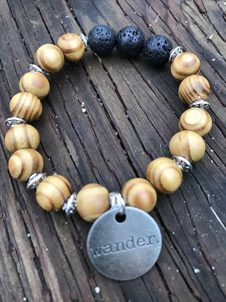 Bohemian Aromatherapy Bracelet #Wander www.bysandandstones.com