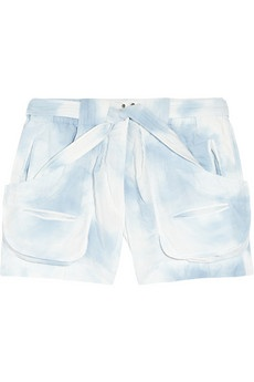 marble-dyed isabel marant shorts- clouds