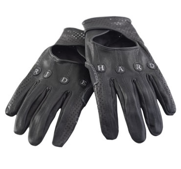 Knog leather cycling gloves