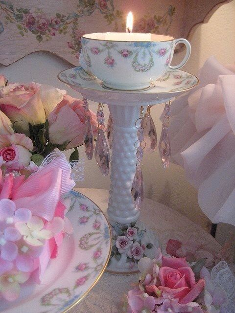 pretty use of a tea cup