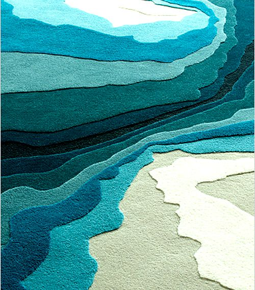 Modern rugs by Edward Fields.  This would b e beautiful hooked. Makes me think of Inuit art.