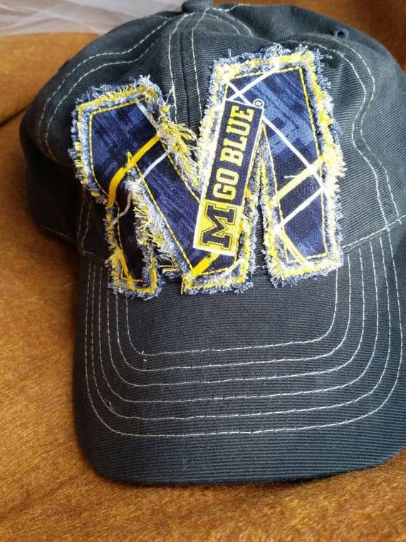university of michigan fitted baseball hat items similar frayed ball cap navy state caps