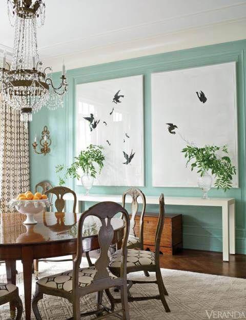 Manhattan townhouse by timothy whealon via veranda 4 dining rooms pinterest wells - Veranda dining rooms ...