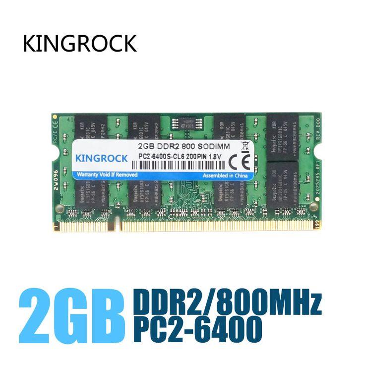 KINGROCK Nuevo Sellado Sodimm DDR2 de 667 Mhz/800 Mhz/533 Mhz 1 GB/2 GB para el Ordenador Portátil Memoria RAM/garantía de Por Vida/Envío Libre!!!