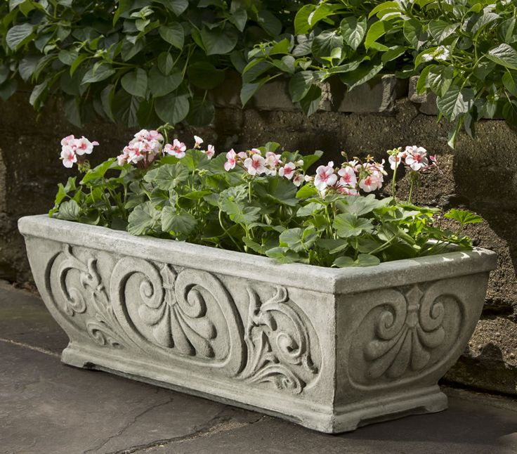High Stone Wall Garden With Rectangular French Marble: 10 Best {Decorative Window Boxes} Images On Pinterest