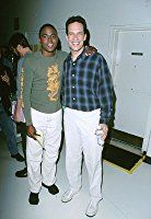 Diedrich Bader and Wayne Brady at an event for Hollywood Squares (1998)