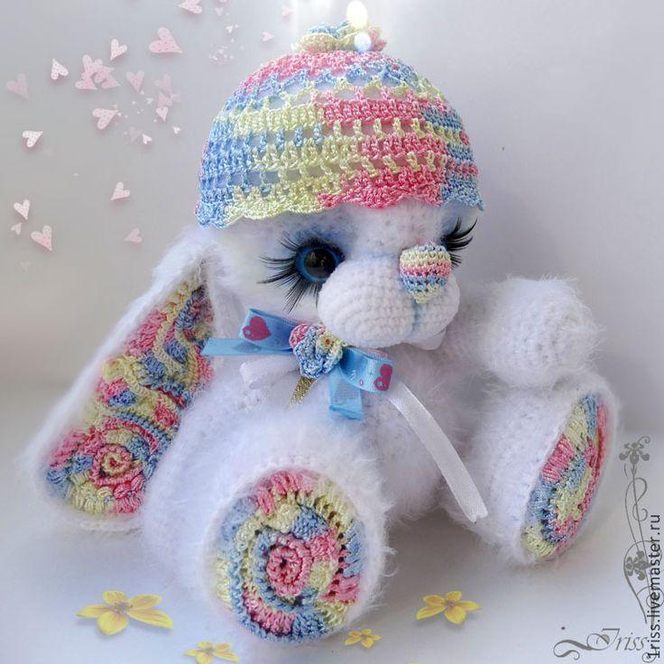 Купить Зайчишка Парадиз. - разноцветный, белый, розовый, голубой, Праздник, парадиз, зайка, зайчик, пушистик