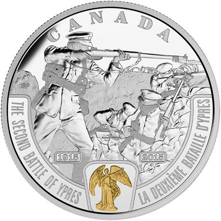 The Royal Canadian Mint have issued a new coin which remembers one of the most decisive battles which took place early on in the Great War, later referred to as the First World War after 1939. The second Battle of Ypres was fought from the 22nd April to the 25th May 1915 for control of the strategic Flemish town of Ypres in western Belgium, following the First Battle of Ypres the previous autumn. The 1st Canadian Division defeated the forces of a European power, the German Empire on…